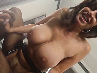 Mature maid deals master's grown black cock in rough modes