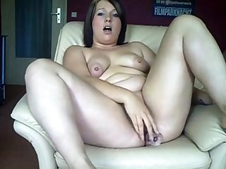 Chubby German comprehensive fucks will not hear of ass and pussy in all directions dildos