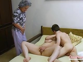 OmaHoteL Elder Three-Way Furry Mature Getting Off