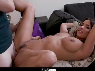 StepMom Anissa Kate Chritsmas Mite With StepSon - FILF