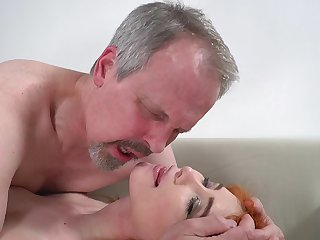 Horn-mad old guy has unforgettable sex with wife's cute stepdaughter