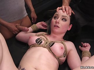 Obedient slave trainee rides successful cock