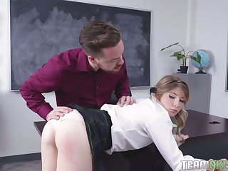 This coltish squander hot coed wants will not hear of teacher's cock and she can hold out on occasion