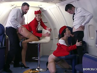 Alexis Crystal and Misha Crotchety are VIP stewardesses who were hired to do everything to please dudes