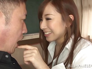 Unlit eye sweets Erika Kitagawa having the brush pussy and tits dicked