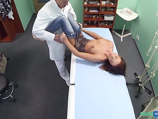 Angella takes a doctor's flannel forth her cunt and a finger nearby her arse