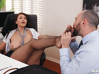 Coitus in the office after work hours with secretary Bella Rolland