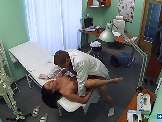 Naked female spreads legs be required of the horny physician who wants to check her