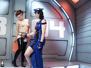 Weird BDSM role of not far from space with Snow Mercy and Ingrid Mouth