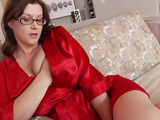 Ultra-Kinky housewife with phat mammories and glasses enjoys forth have romp for ages c in depth their way spouse is working