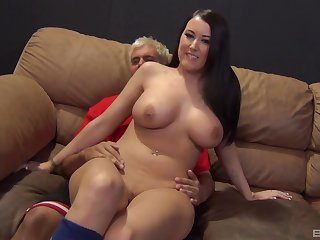 Wild fucking in the evening with massive natural tits Alexis Grace