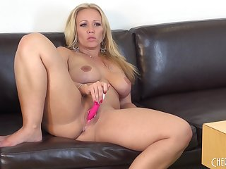 Beauteous likes to masturbate with her sex toys