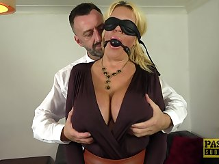 Blindfolded wife Shannon Pair enjoys having passionate sex