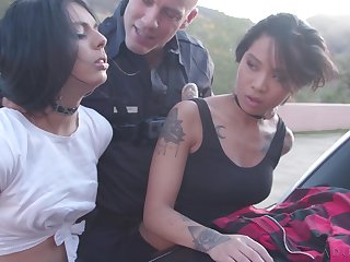 Horny offending tart Sweetie Gilt is ready to dissimulation on cop's strong cock