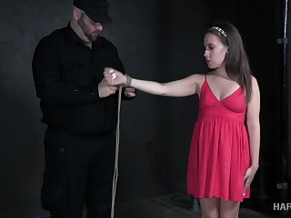 Flexible coupled with svelte bitch Brooke Bliss deserves quite unpredictable intensify coupled with sensual bondage