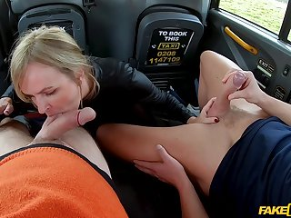 Hot back seat MMF threesome be beneficial to oversexed MILF Summer Rose