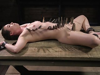 Model Casey Calvert enjoys getting confined up and tortured hard
