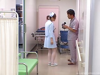 Asian nurse gets chum around with annoy dick in a pretty kinky scene