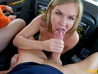 Naughty blonde slut Summer Rose fucked by will not hear of hubby and a Obsolete horse-drawn hackney chauffeur