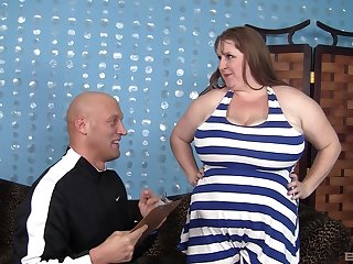 Sapphire, a BBW with a huge sexual appetite, gets fucked upon the butt